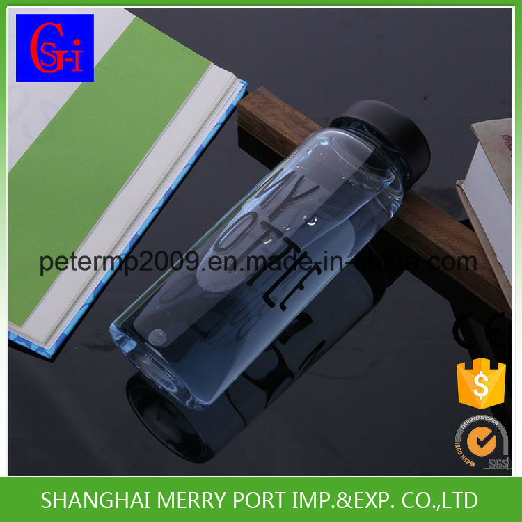500ml Wholesale Clear Water Bottle, Factory Printed Plastic BPA Free Space Water Bottles