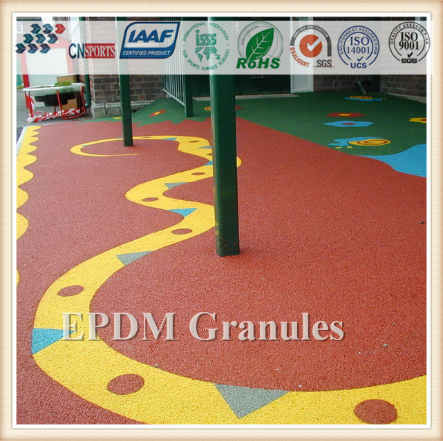 New Design Rubber Mat EPDM Rubber Granules/Recycle Rubber Tile