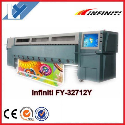 Solvent Printer Digital Printing Machine Infiniti/Challenger Fy-32712y with High Printing Speed 282sqr/H (with 12PCS Seiko printheads)