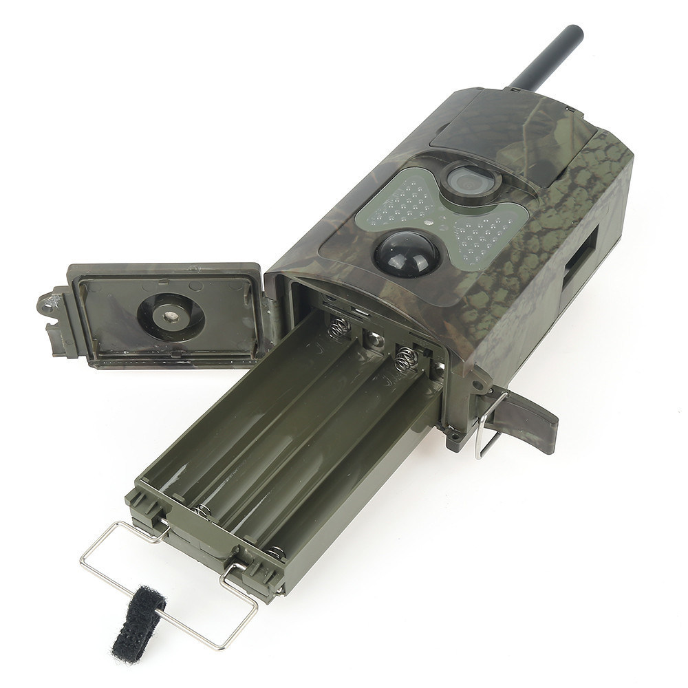 Camouflage Frame Hc-500m Sport HD Hunting Trail Cameras 12MP GPRS GSM SMS Wildlife Camera