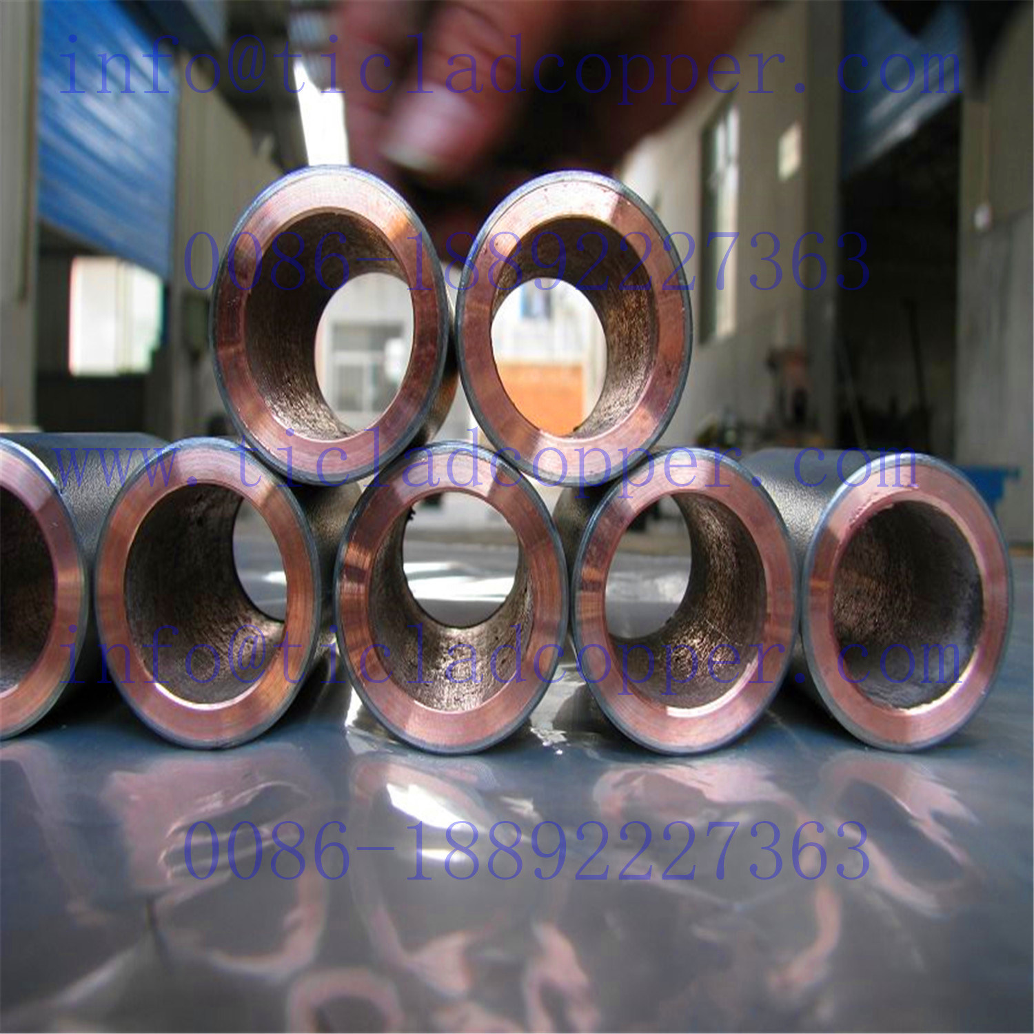 Gr2 Titanium Clad Copper Pipe/Tube Anode for Electroplating