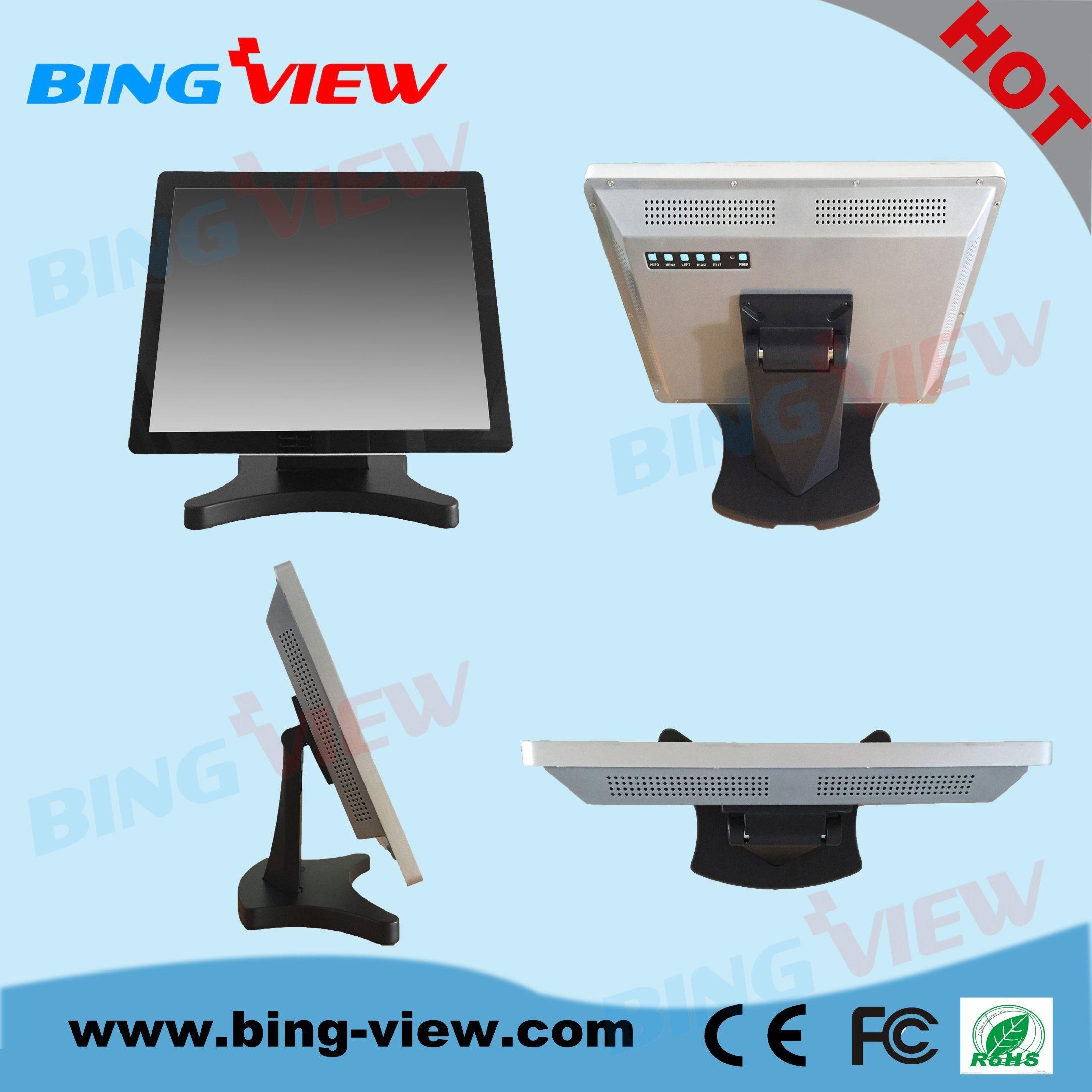 "4: 3 19"" True Flat Design POS Desktop Multiple Touch Screen Monitor"