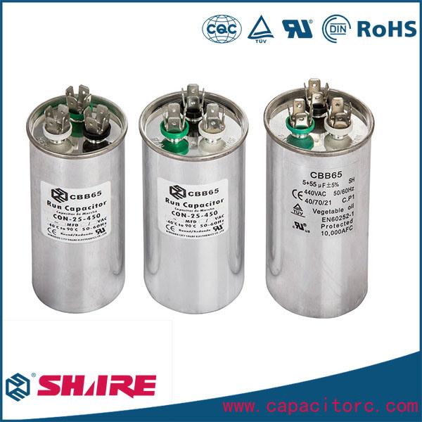 Air Conditioner Spare Parts Cbb65 Motor Run Capacitor