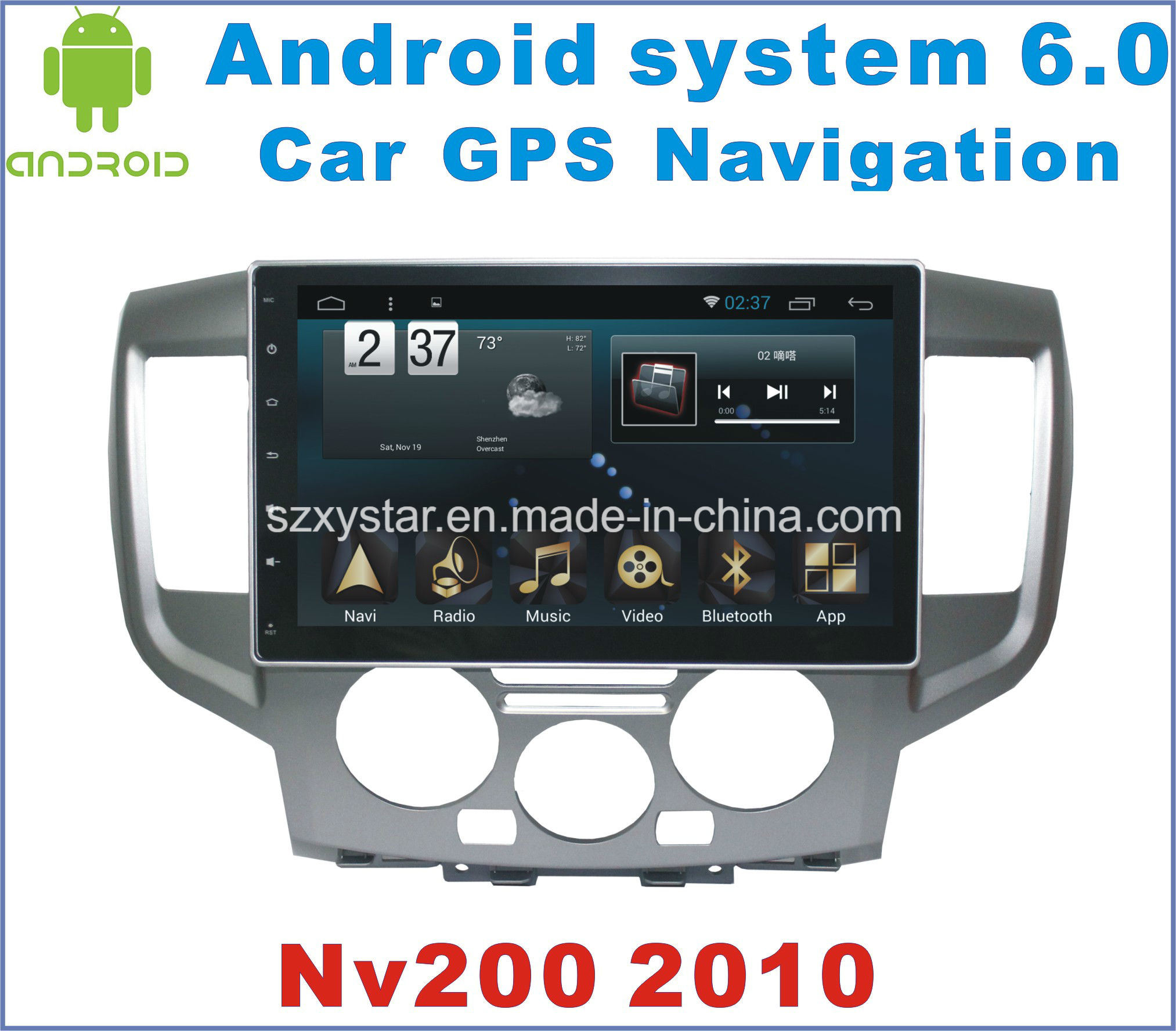 Android 6.0 Car DVD for Nissan Nv200 2010-2015 with Car Player
