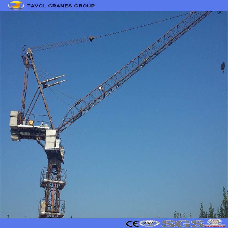 Construction Site Machines Luffing Jib Tower Crane