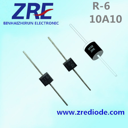 10A General Purpose Rectifier Diode 10A05 Thru 10A10 R-6 Package