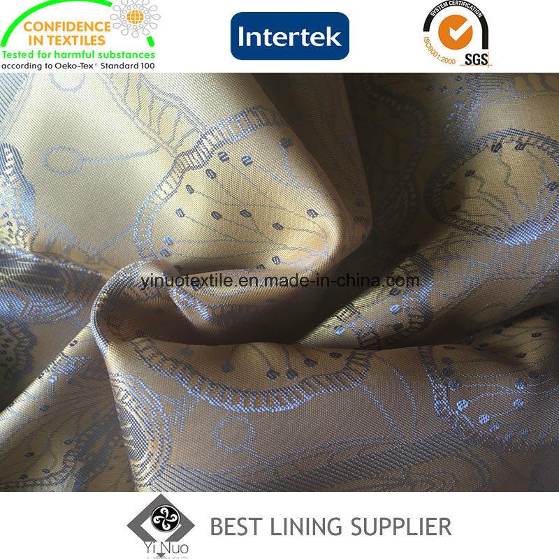 New Men′s Suit T/R Jacquard Lining Fabric Manufacturer
