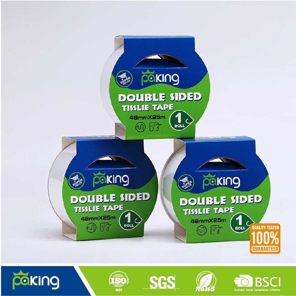 Solvent Based Double Sided Tissue Paper Tape for Sale