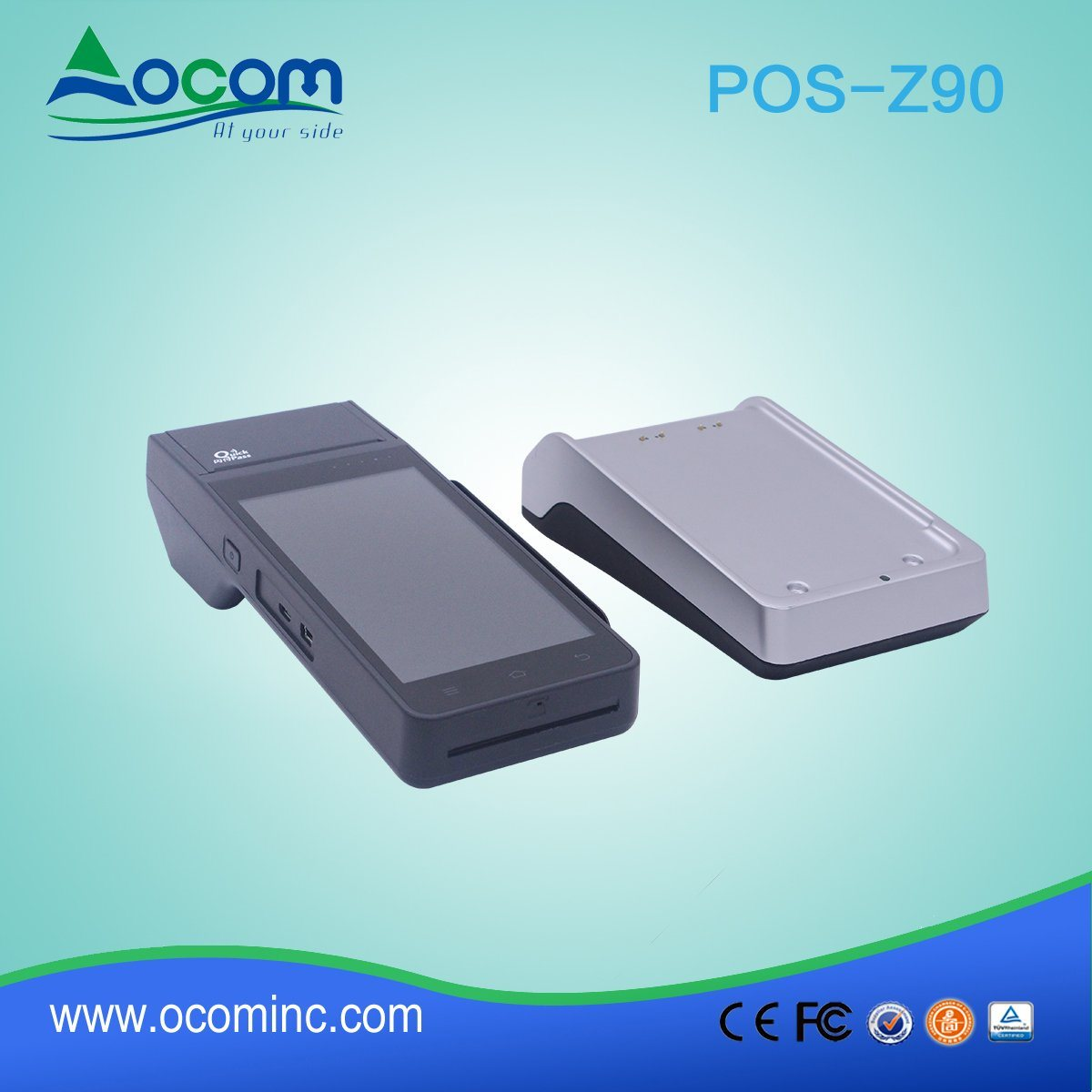 Z90 Mobile All in One Touch POS Terminal with NFC Reader
