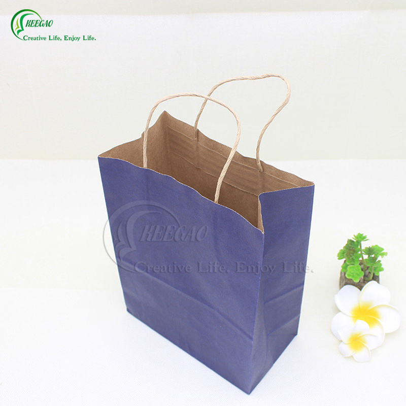 2017 Main Product Brown Kraft Paper Packaging Shopping Bag Kraft Paper Bag in Super Market (KG-PB018)