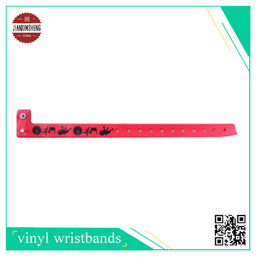 RFID Vinyl Bracelet with Silk-Screen Printing
