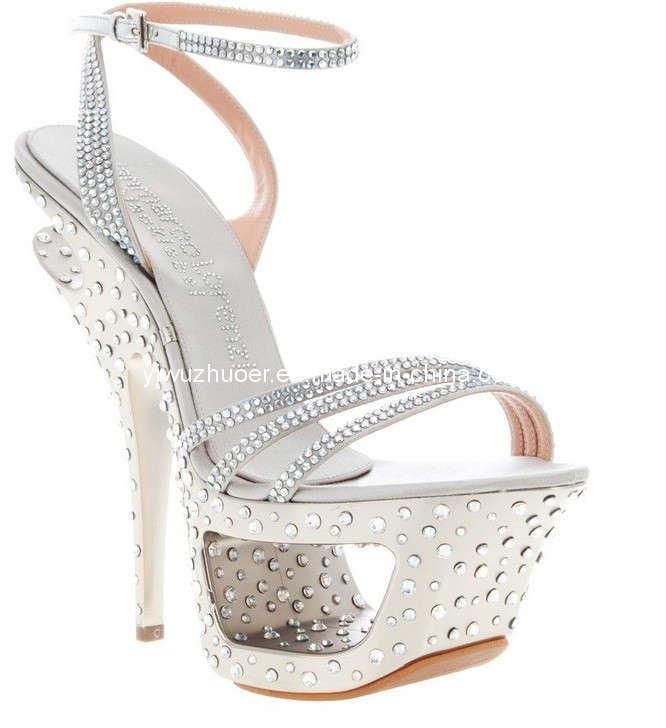Lady s Dress Shoes,Fashion Women Party Shoes,Double Waterproof Diamond