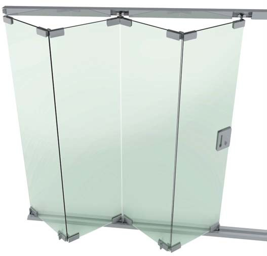 Folding Glass Shower Doors 527 x 505