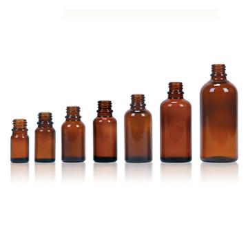 Amber Drop Dispensing Bottles DIN 18mm