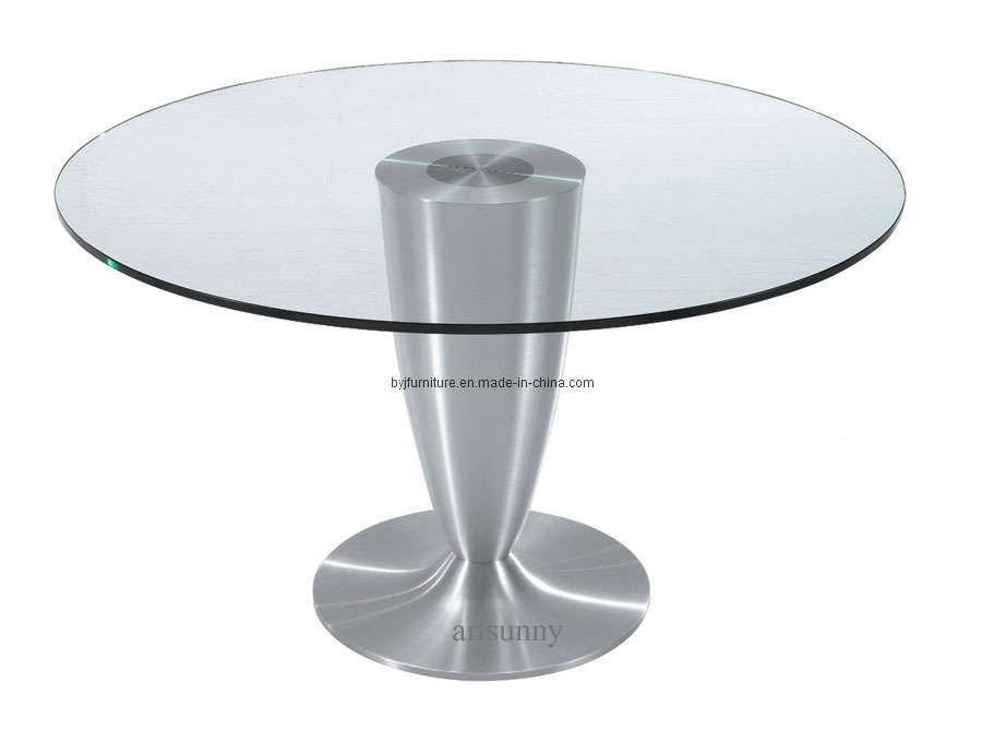 China luxury glass dining table bct06 china glass for Luxury glass dining tables