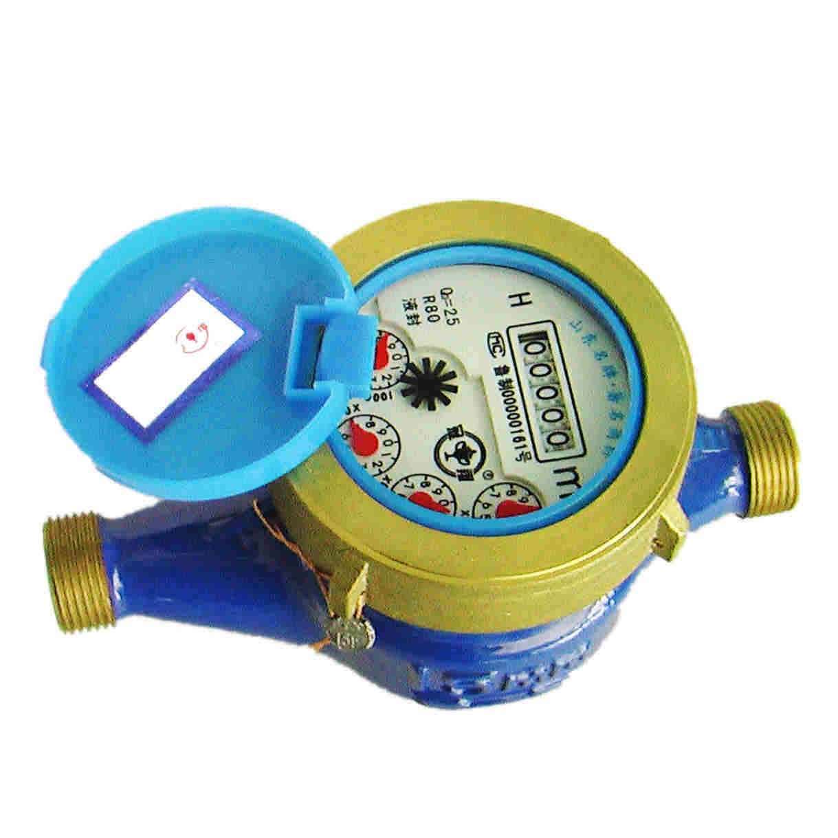 House Water Meter : China brass body water meter lxs