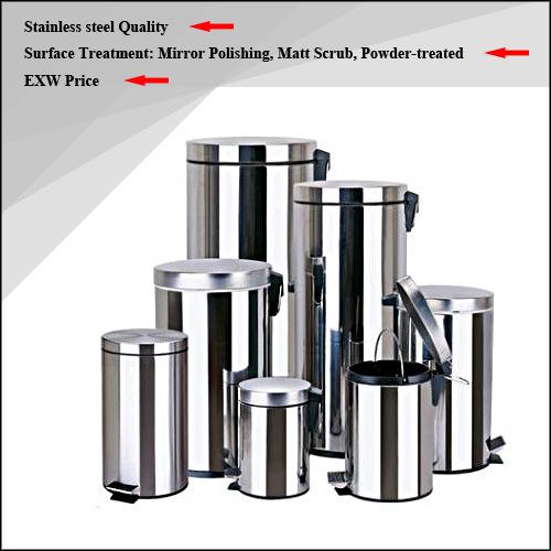 High Quality Stainless Steel Rubbish Bin / Waste Bin / Dust Bin / Trash Bin (3L/5L)