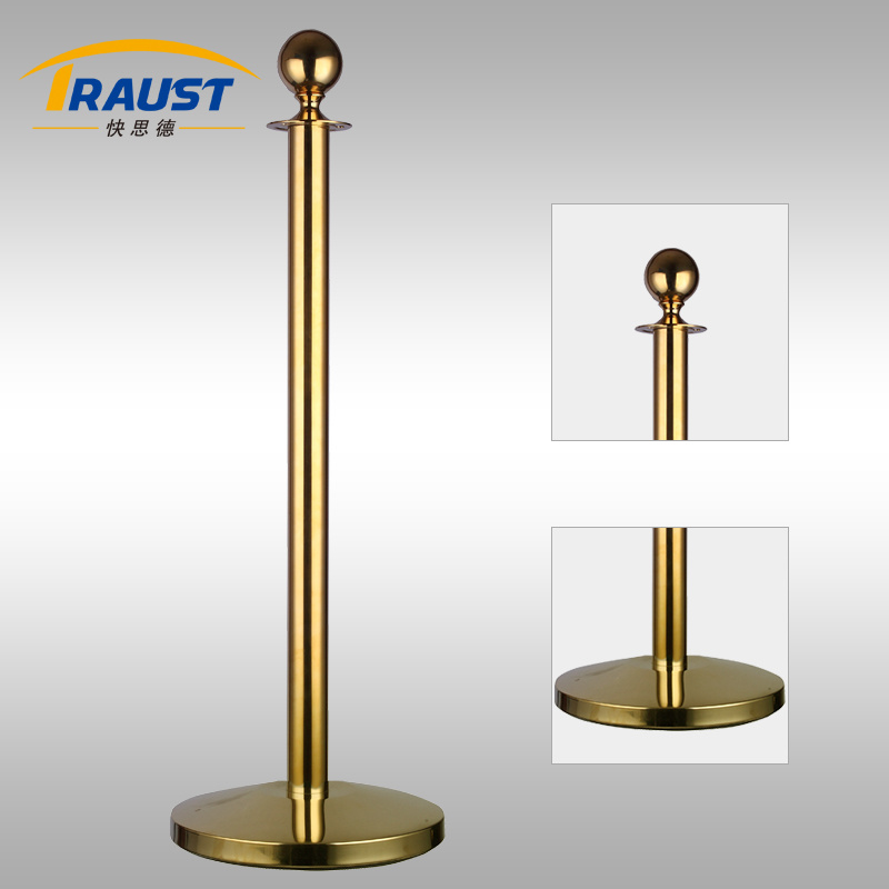 Wholesale High Quality Public Guidance Velvet Rope Post (RP-35CD Gold)