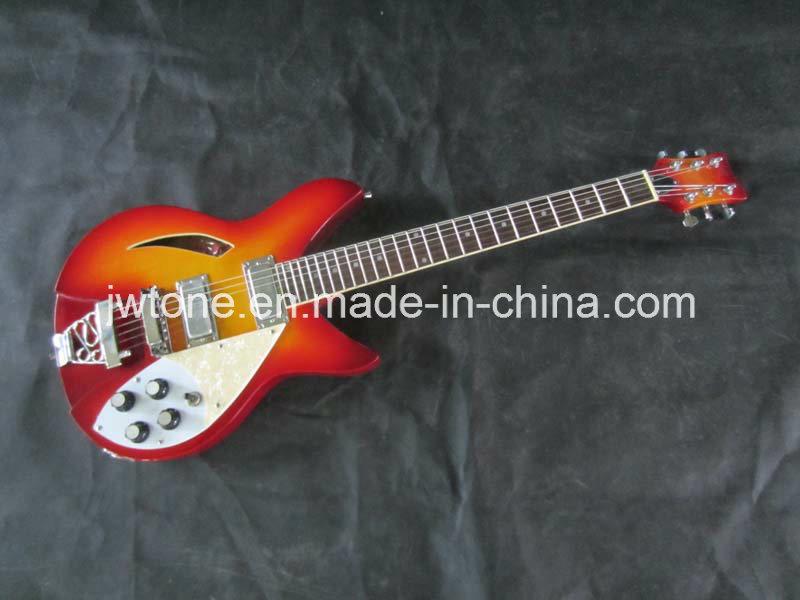 Single F Hole Hollow Body Electric Guitar