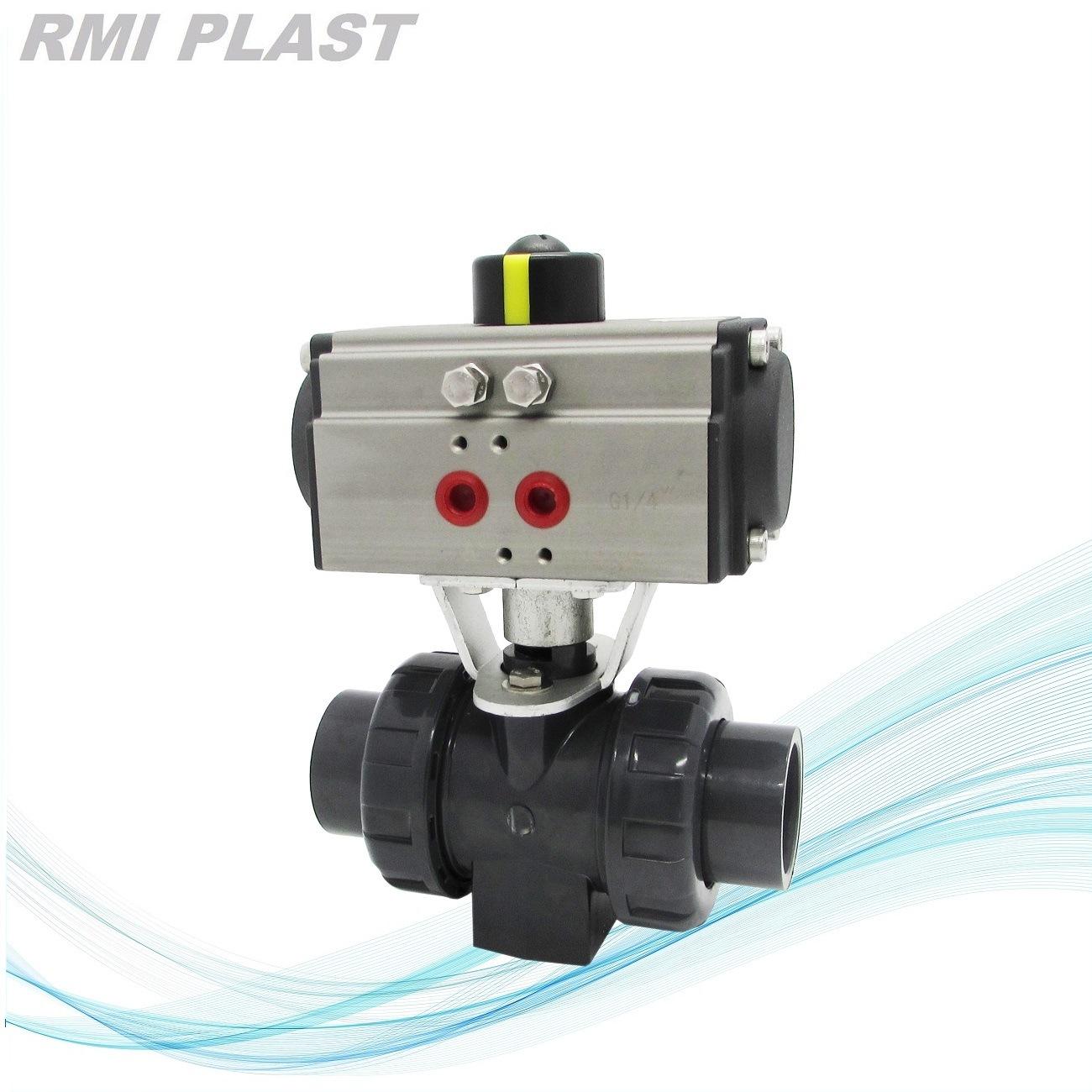 Plastic PVC Valve Pneumatic Ball Valve