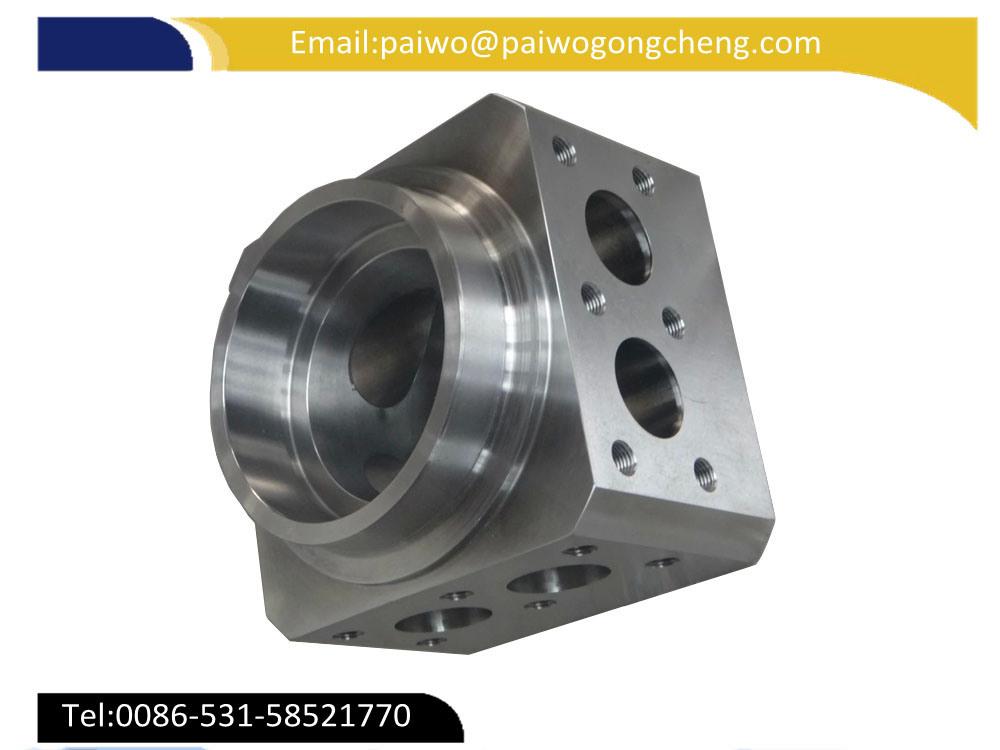 Carbon Steel CNC Machining Hydraulic Cylinder Spare Part Hydraulic Block
