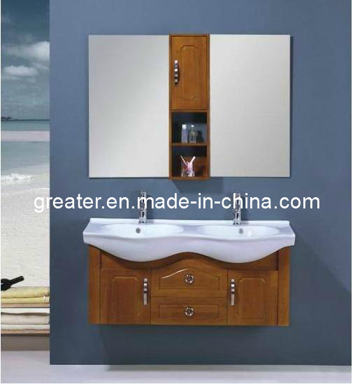 China Small Double Sink Solid Wood Bathroom Vanity (KH8018) Photos ...