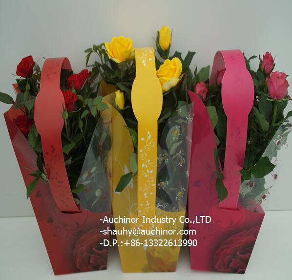 Moisture Proof OPP Plastic Packaging Flower Sleeve Bag