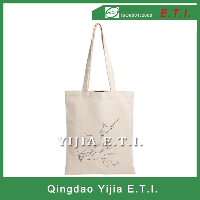 Eco Friendly Long Handle Standared Size Cotton Bag