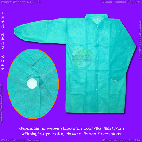 Disposable Patient Coat with Open Cuffs or Elastic Wrists