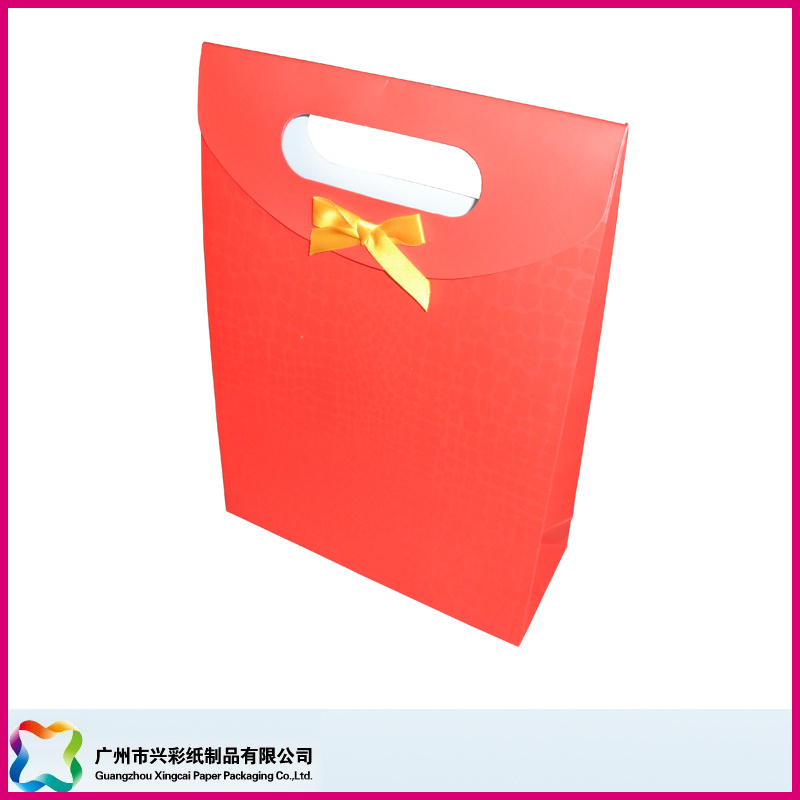 Red Gift Bag with Spot UV (XC-5-004)