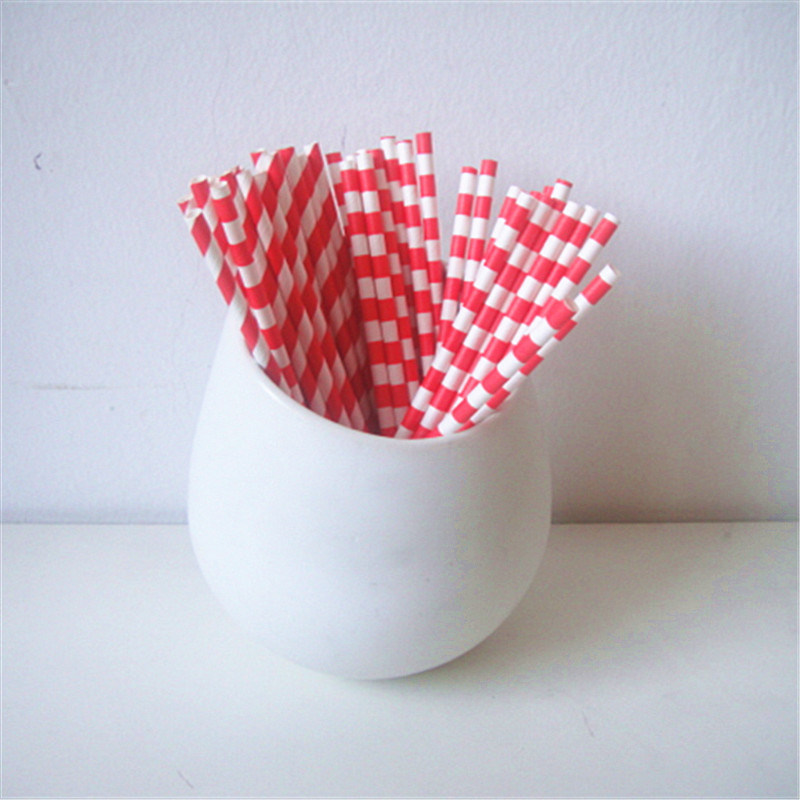 Red Rugby Striped 100% Eco-Friendly Paper Party Supply