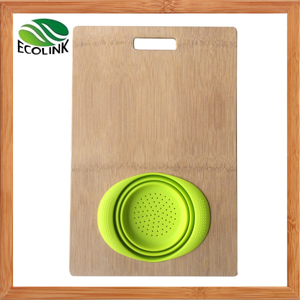 Whole-Piece Bamboo Oversink Cutting Board Chopping Board