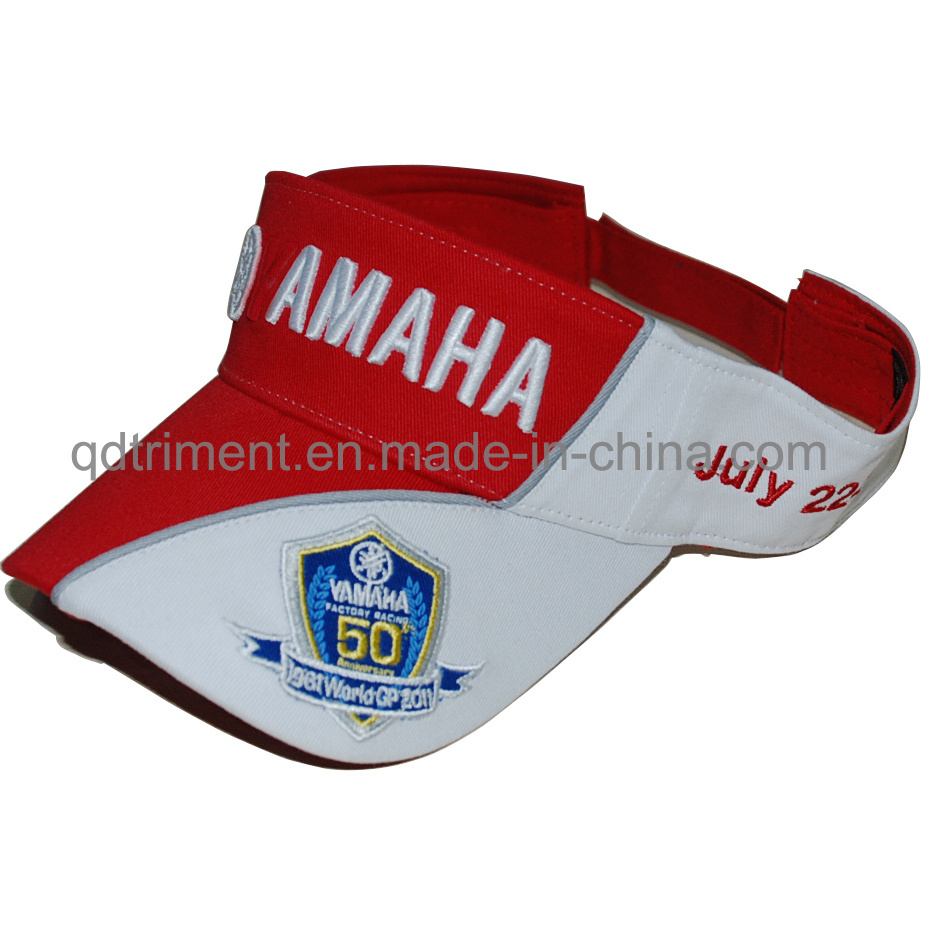 Popular Embroidery Sport Racing Sun Visor Hat (TMV9486-1)