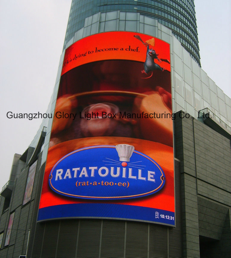 Fexible Model P10 Outdoor Full Color LED Video Wall Advertising