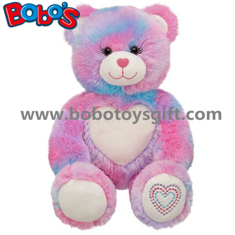 Custom Plush Love Teddy Bear Toy with Forever Heart