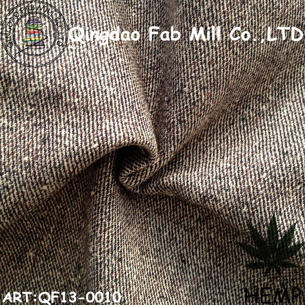 Hemp/Organic Cotton Yarn Dyed Fabric (QF13-0010)