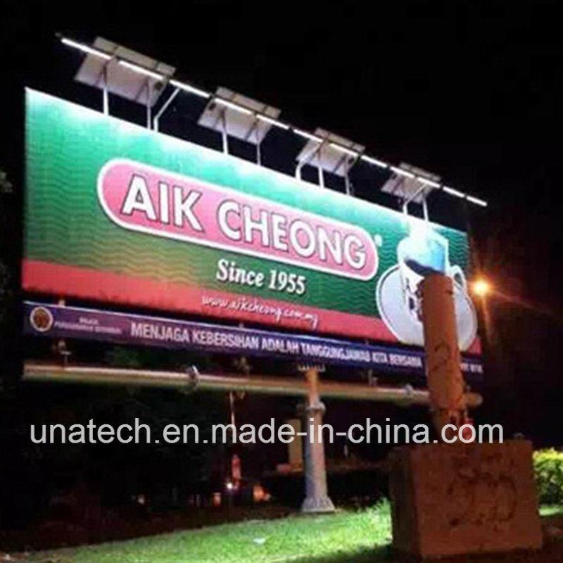 Outdoor Tri-Vision Billboard Solar LED Streamlined Spot Light
