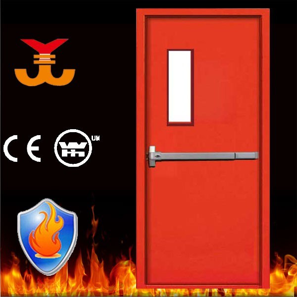 90mins Steel Fire Rating Door with Push Bar