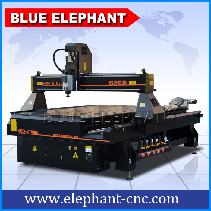 Ele-1325 4 Axis 4X8 CNC Wood Router with Rotary Device for Round Materials