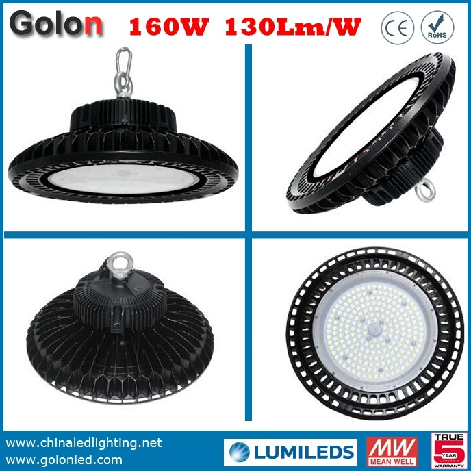 China Shenzhen Manufacturer 5 Years Warranty 130lm/W 150W Lamparas LED UFO Industrial High Bay Light