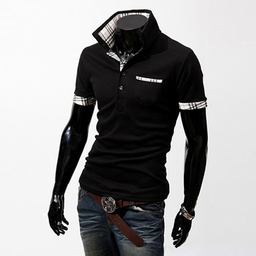 China men s casual polo shirt china men polo shirts men for Mens casual collared shirts
