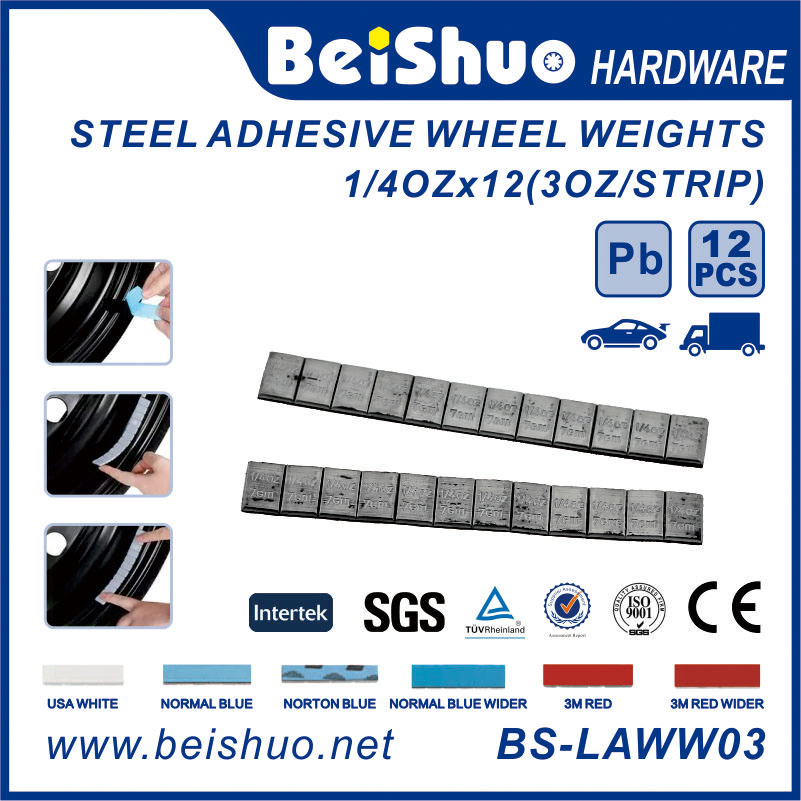 Steel Adhesive Wheel Balance Weights 5+10