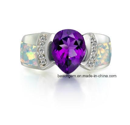 Brass Created Opal Jewelry Rings