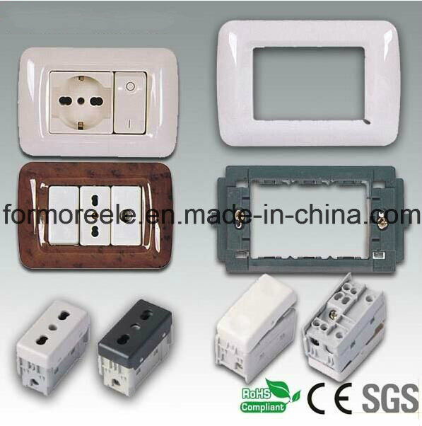 European 16A 250V Three Way Wall Switch