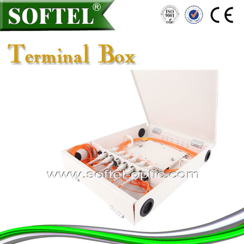 Wall Mounted Distribution Box/FTTH Termianl Box 12 Core