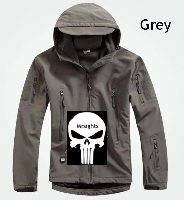 China Men Outdoor Hunting Camping Waterproof Coats Jacket Hoodie Grey