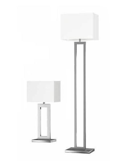 Modern Steel Table Lamp with Fabric Shade (WH-8802)
