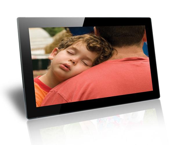 18.5 Inch Temper Glass Digital Photo Frame