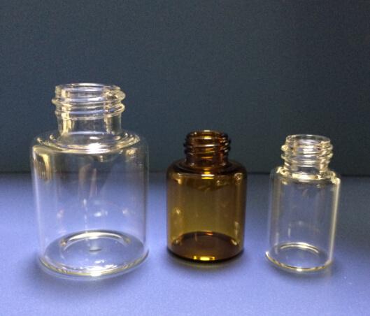 Tubular Amber Glass Jar for Essential Oil Dropper