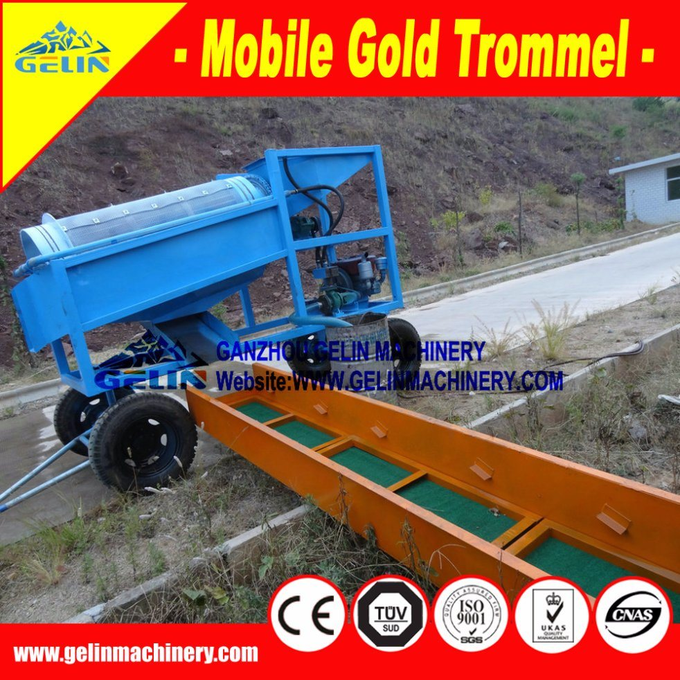 Alluvial Gold Mining Machine, Mobile Gold Mining Equipment